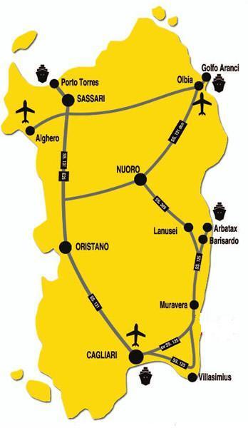 Cartina Porti Sardegna.Come Arrivare In Sardegna Vacanza Sarda